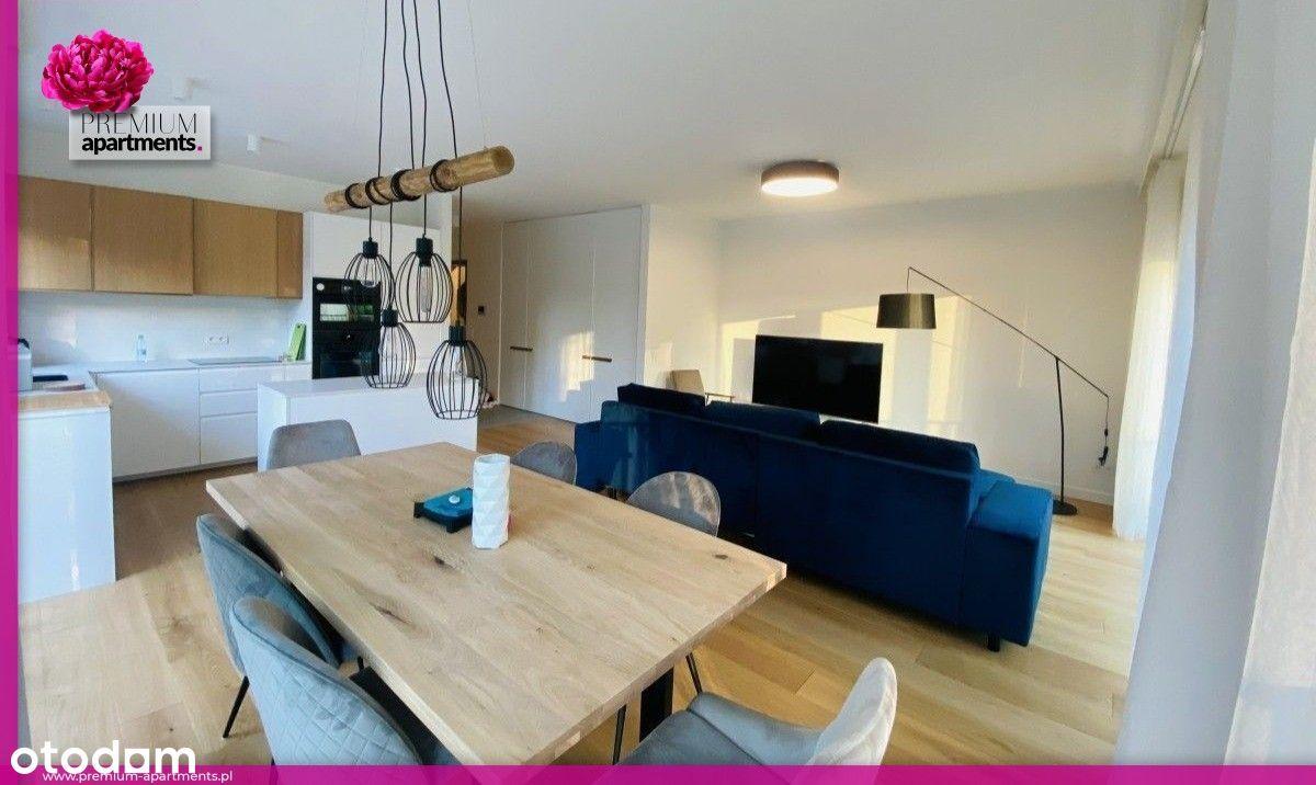 4 pokoje, 2 łazienki, River View, garaż, 2 balkony