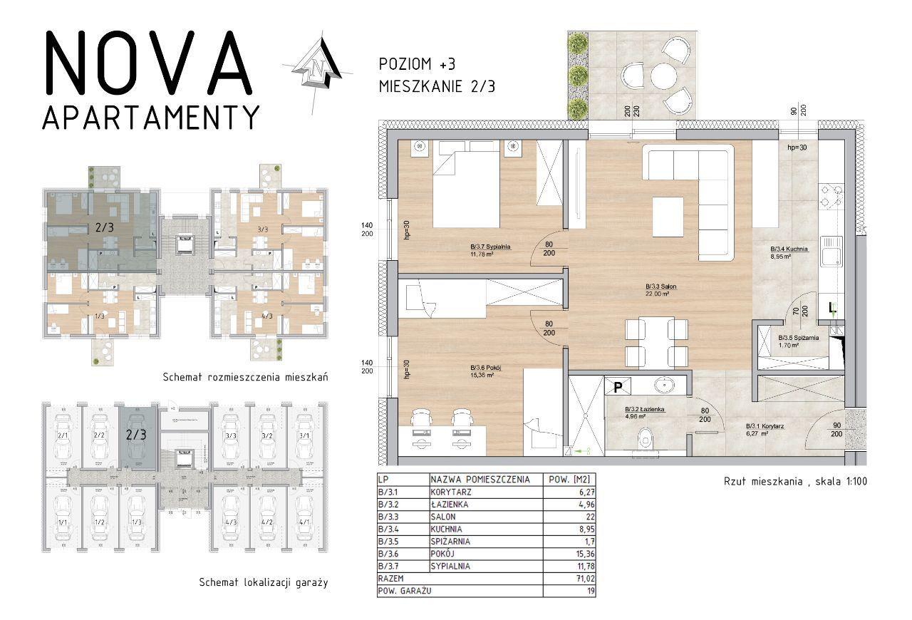 Ustawne Mieszkanie Nova Apartamenty M2/3