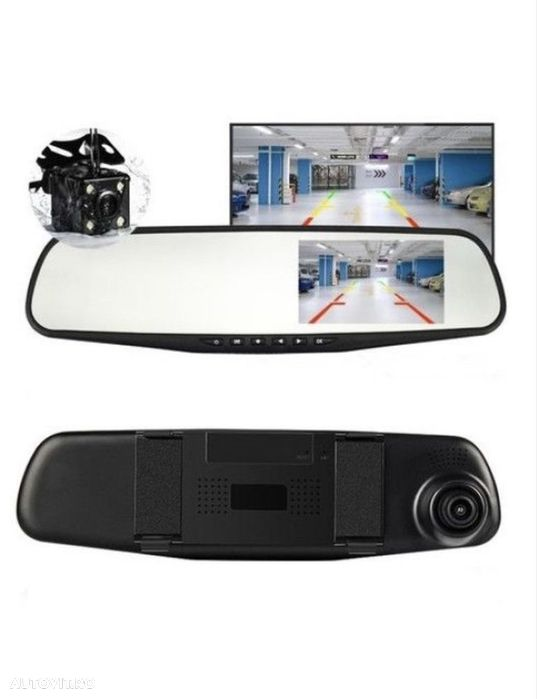 Camera Video Auto Dubla Tip Oglinda Full-HD - 4