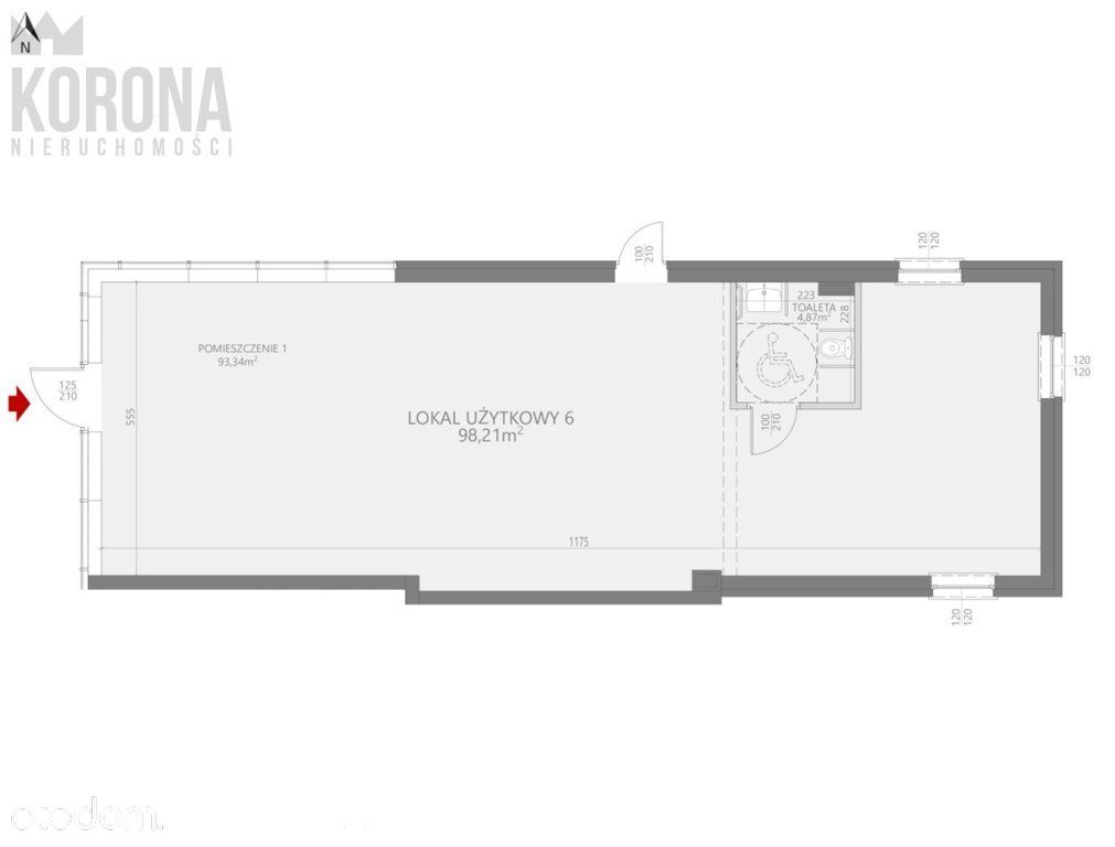 Lokal użytkowy, 98,21 m², Białystok