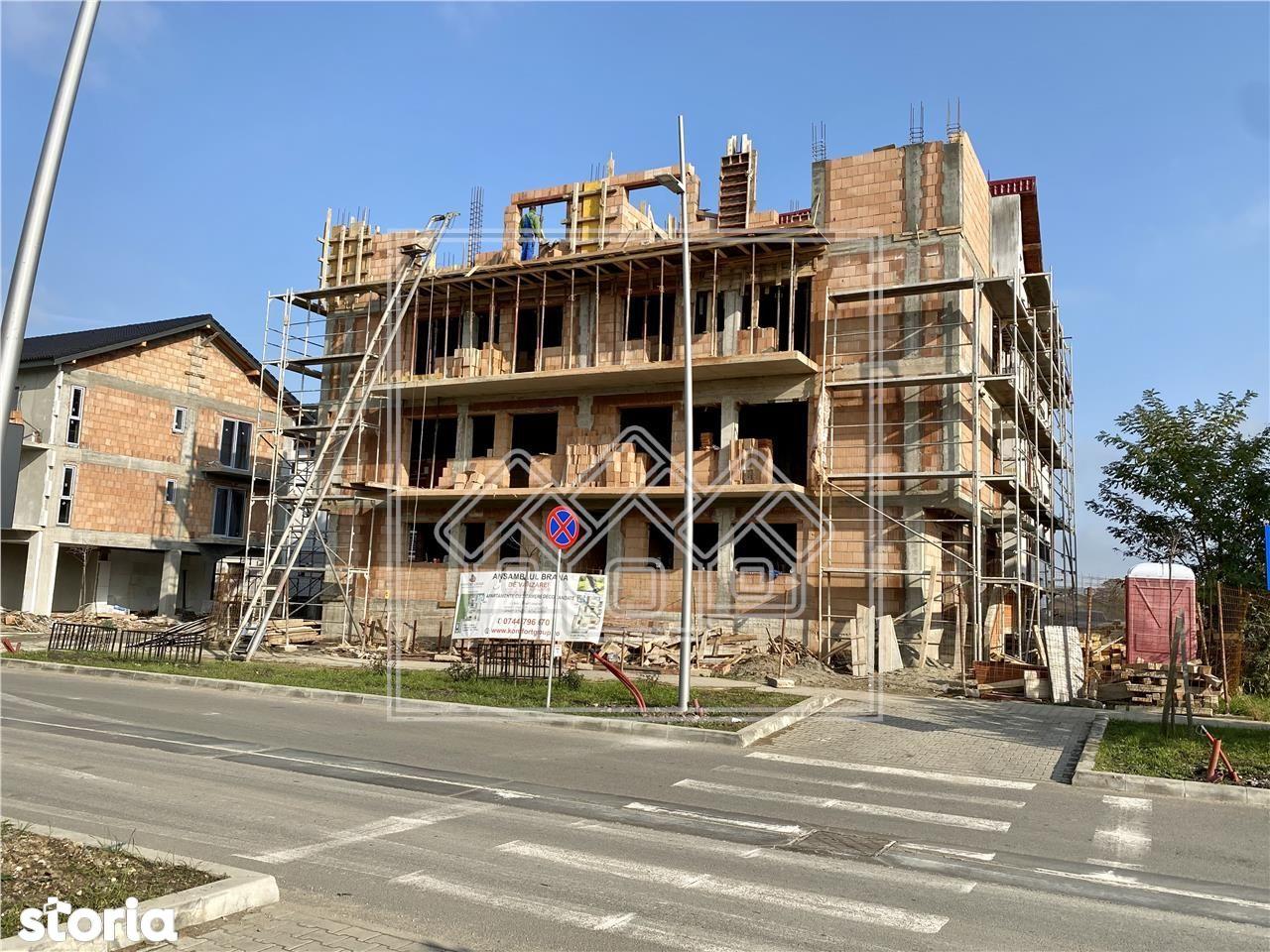 Apartament cu 3 camere - 74 mp utili + gradina de 110 mp - Selimbar