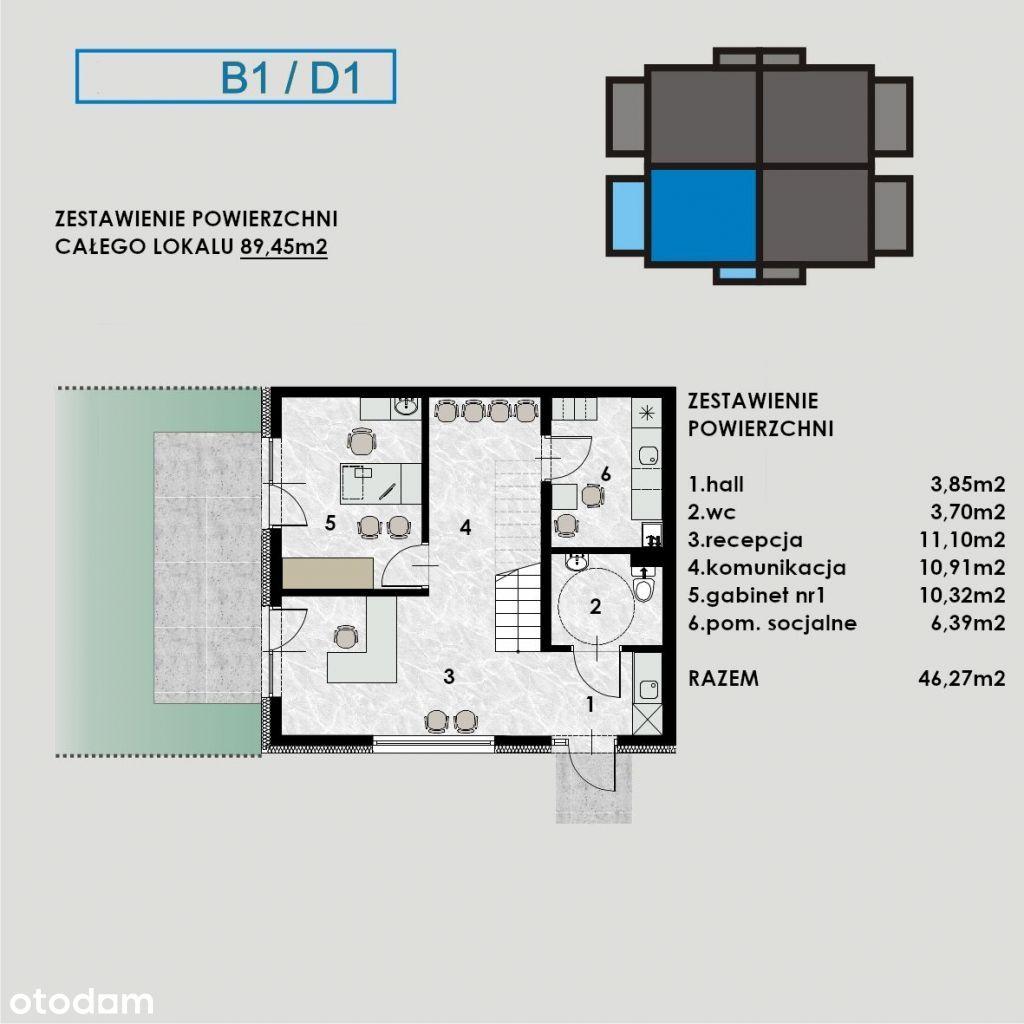 Lokal użytkowy, 89,45 m², Gliwice