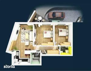 Apartament 3 camere, 75.70 mp, semifinisat, zona Centrala