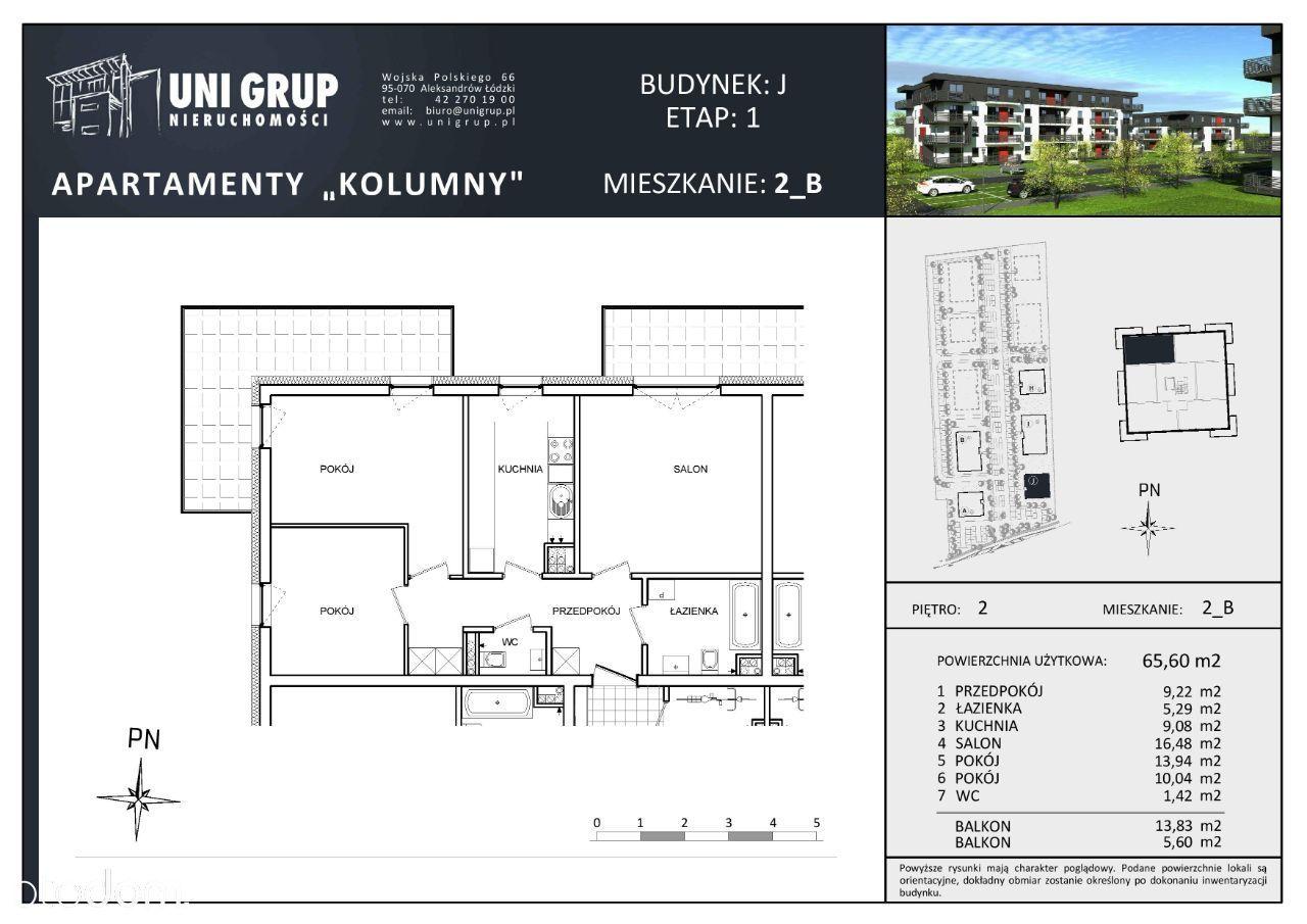 3 pokoje - Lokal B - 2 PIĘTRO - budynek J - etap I