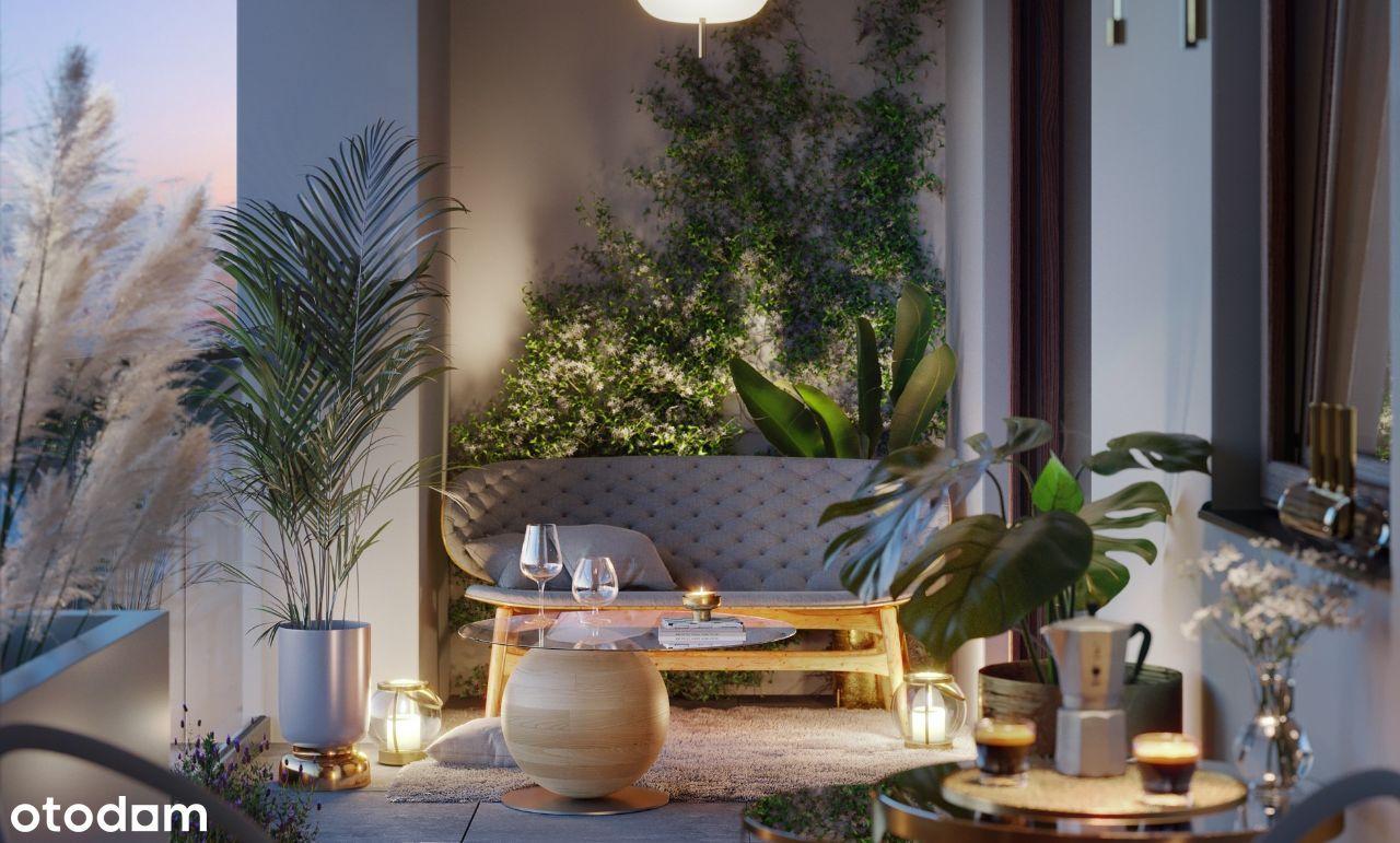 Apartament z antresolą i ogródkiem 34,35 m² B6/1