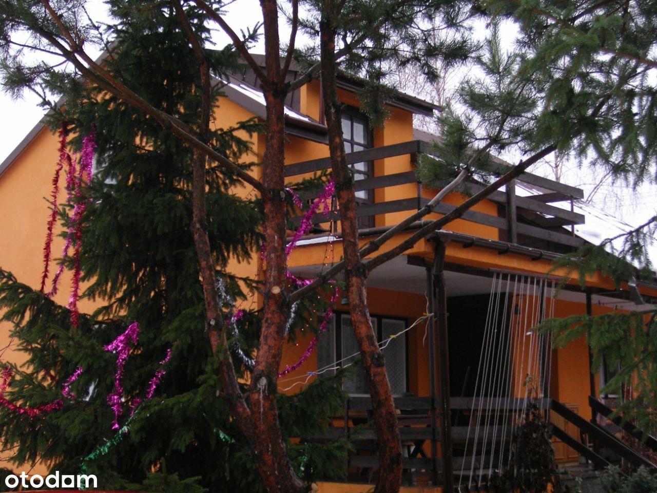 Dom całoroczny murowany, las blisko rzeki