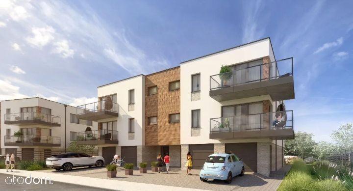 4- pokojowy apartament z balkonem i garażem na dwa