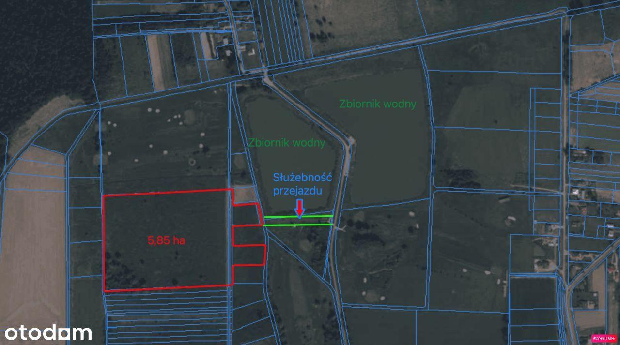 Blisko granicy Rzeszowa, 5,85 ha, inwestycyjna!!!