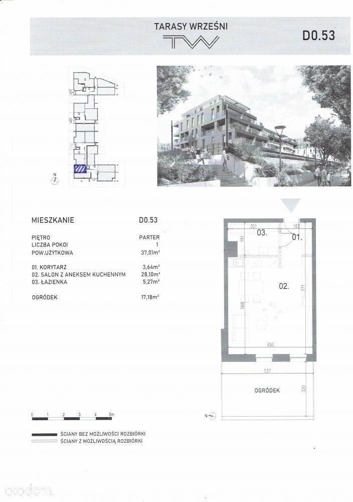 Mieszkanie, 37,01 m², Września