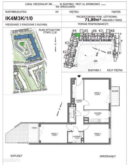 3-pokoje, ogródek+balkon, parking w cenie!