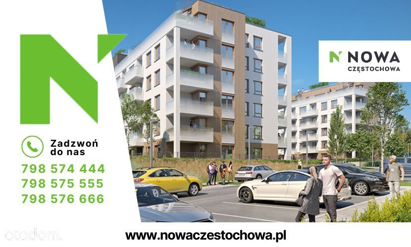 Nowa Częstochowa   Taras   3pokoje   Garaż   64m2