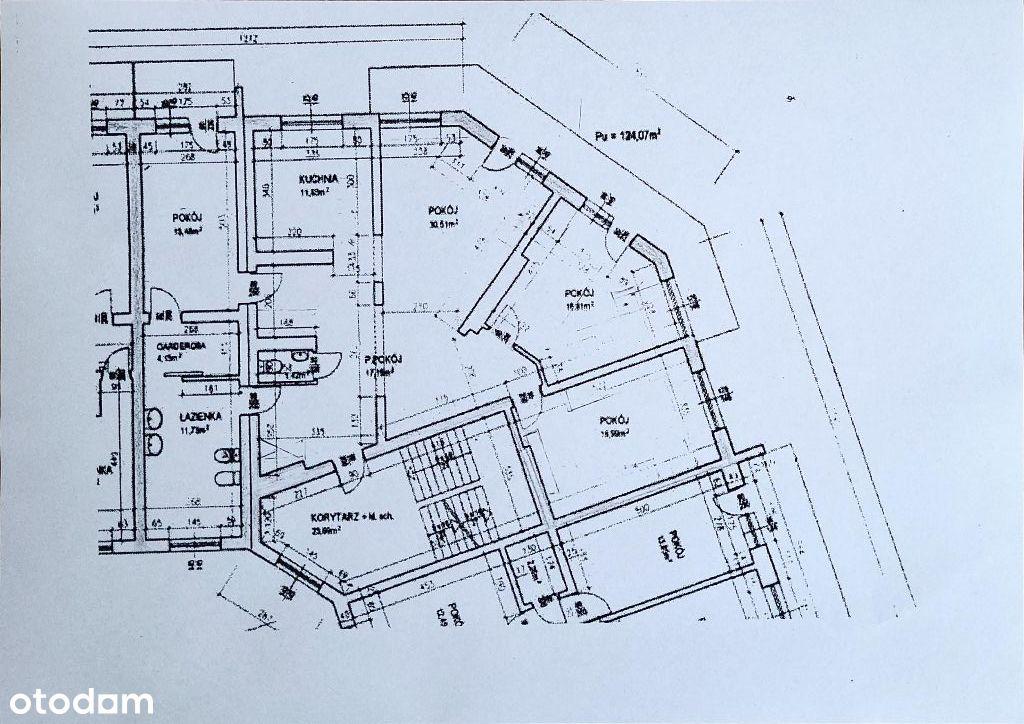 Przestronne, wygodne mieszkanie 124mkw