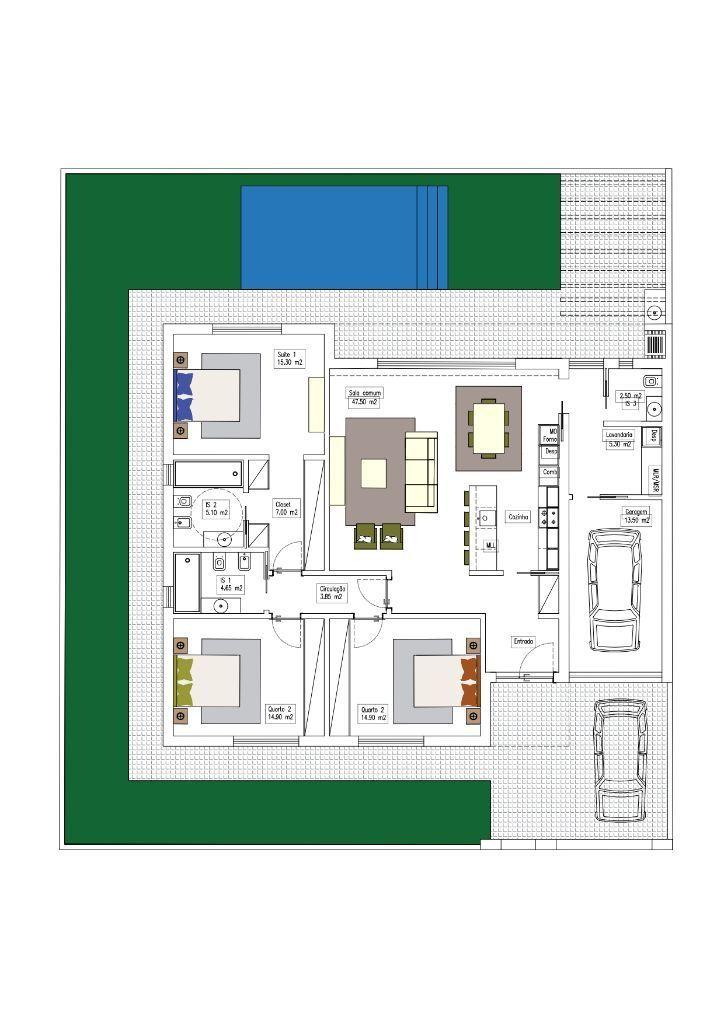 Moradia Térrea T3 em construção  Possível escolher acabamentos