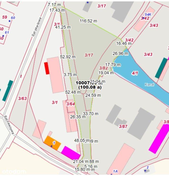 Plac, od 1000 do12000 mkw Szczawiowa od 3 zł /mkw