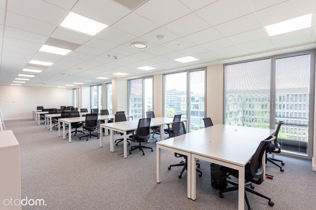 Gotowe biuro w nowoczesnym budynku na Mokotowie