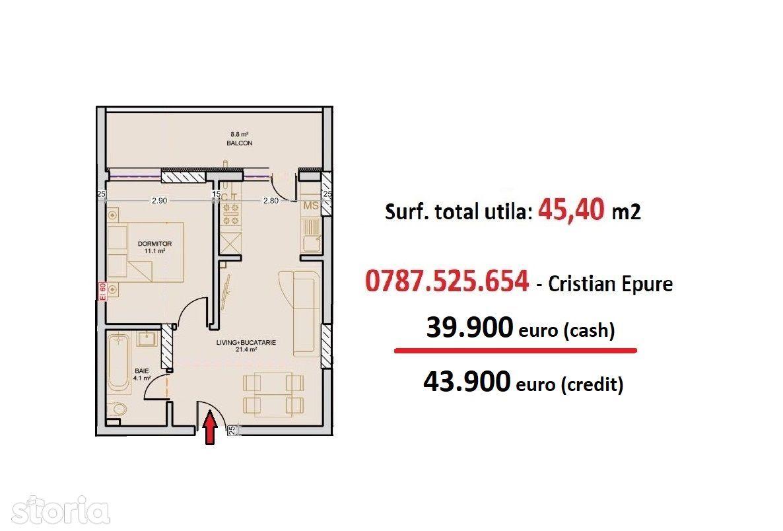 2 camere (tip studio) - Metrou Berceni - Str. Solstitiului