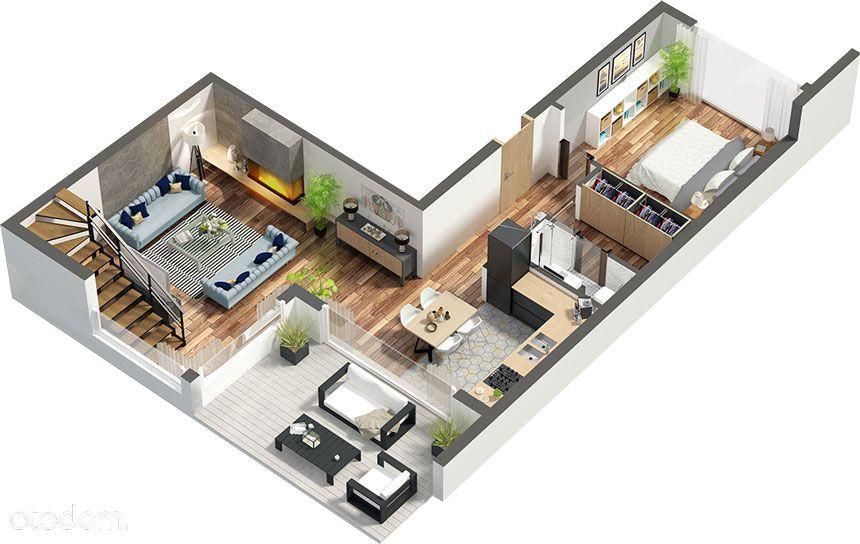 Dwupoziomowy apartament 6-pokojowy pod Warszawą