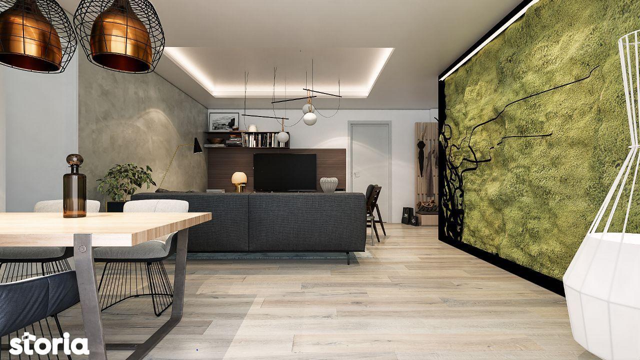 Apartament 2 camere, bucătărie separată, etaj intermediar, design unic