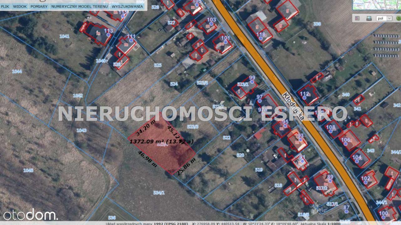 Działka, 1 366 m², Kędzierzyn-Koźle