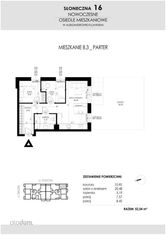 SŁONECZNA16 Mieszkanie B3 52,54 m2 Aleksandrów Kuj