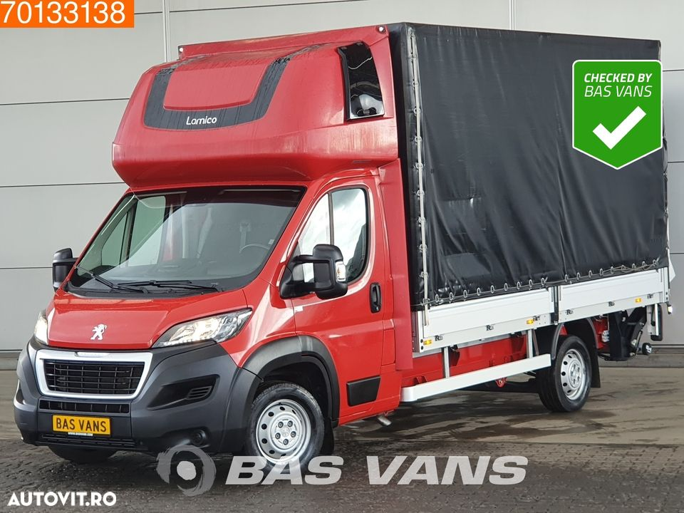 Peugeot Boxer 2.0 Blue HDI 163PS Ladebordwand Pritsche Plane Parking heater 20m3 Airco - 1