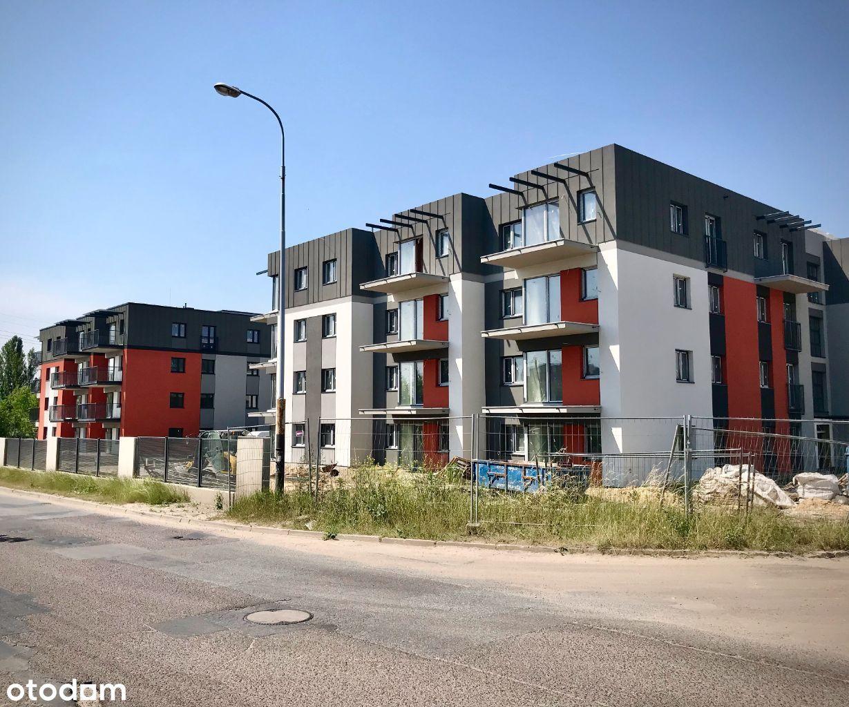 56 m2, 1 piętro, 3 pokoje, balkon, parking, NOWE