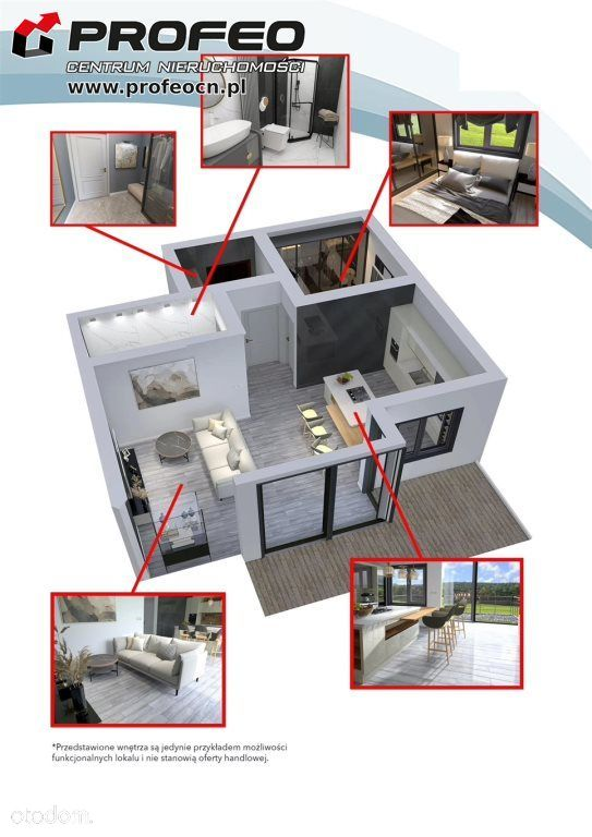 Mieszkanie, 44,57 m², Bielsko-Biała