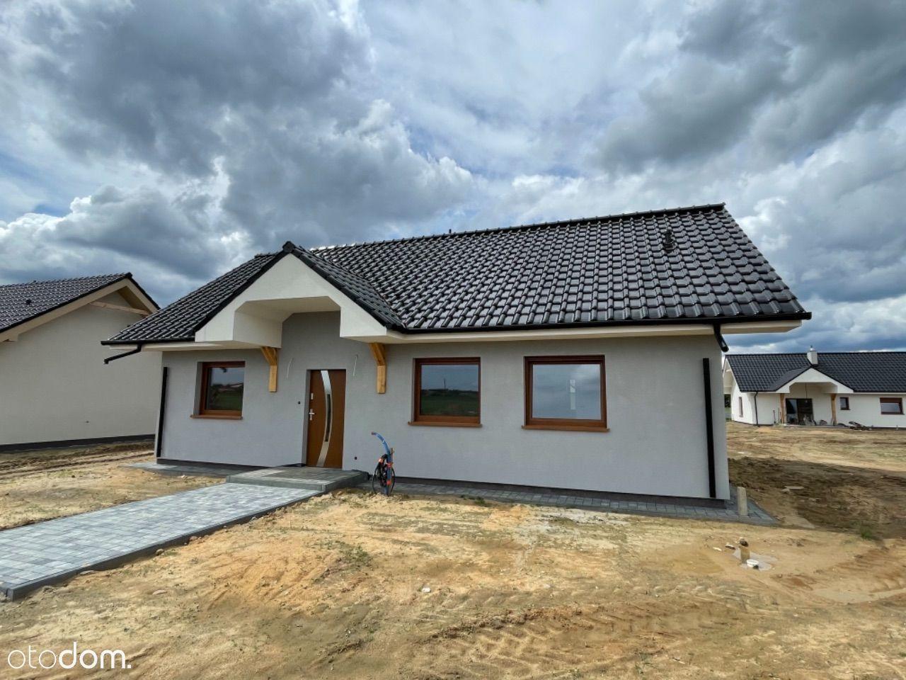 Nowy parterowy DOM - 100 m2 z działką 600 m2