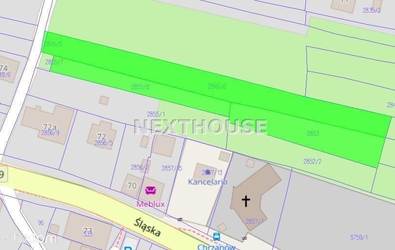 Działka, 3 599 m², Chrzanów