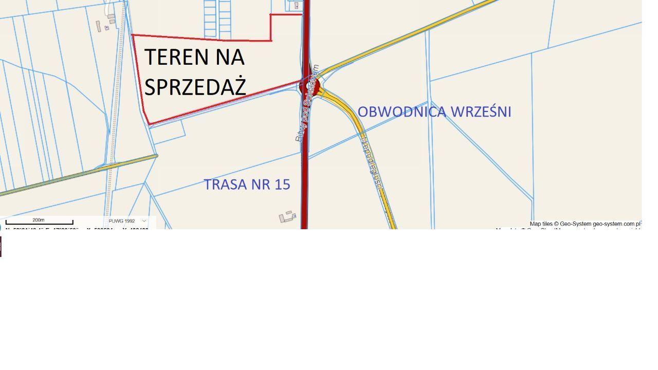 teren pod halę stację paliw obwodnica Wrześni MPZP