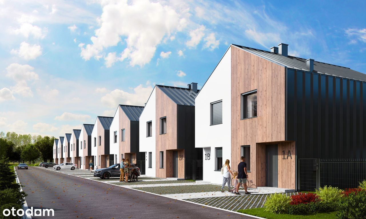 Apartament - 79m2, 1/2 Domu, Strych, Ogródek