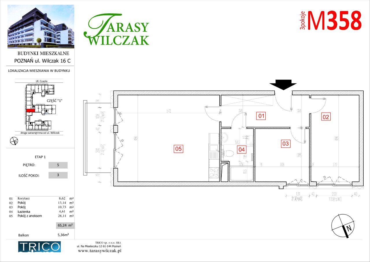 Tarasy Wilczak mieszkanie nr 358