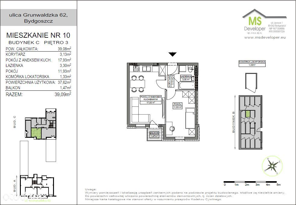Małe m2, 3 piętro, balkon