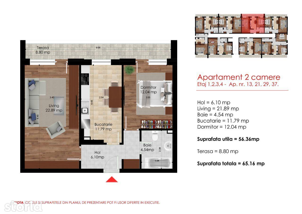 Berceni-Metrou Berceni-Apartament 2 cam-Acte Gata