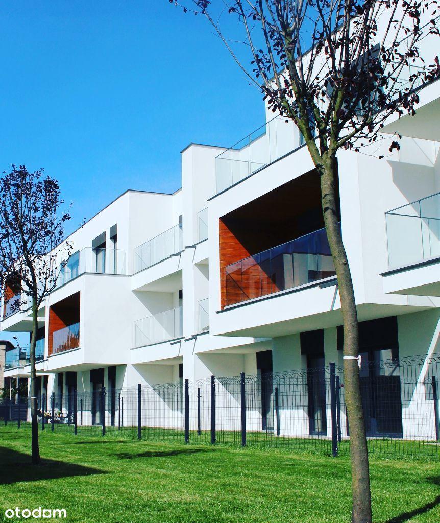 Apartament z ogrodem, nowe osiedle, niska zabudowa