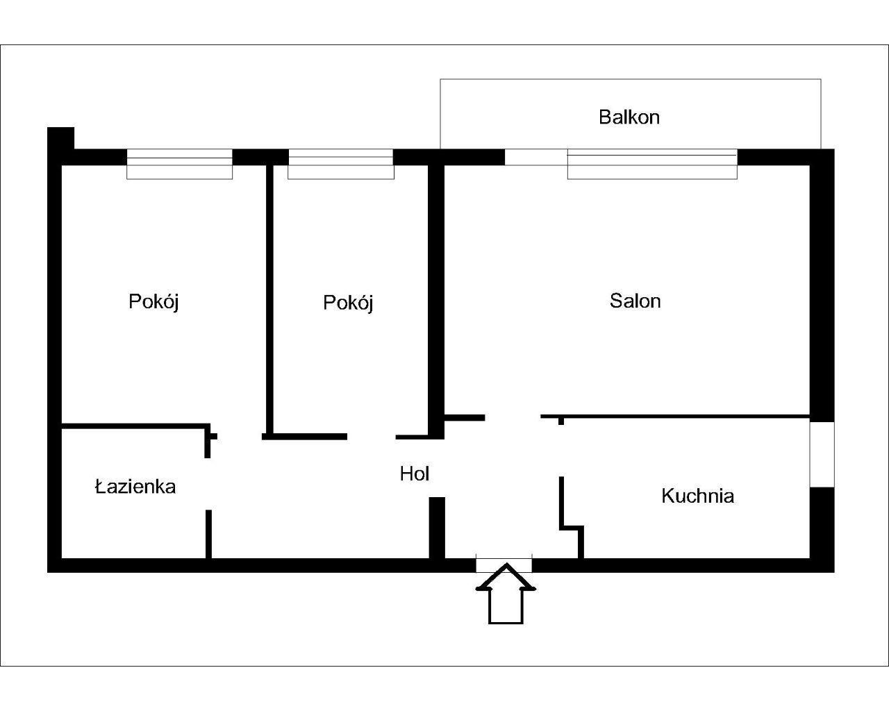 Poborzańska 3 pokoje do remontu bez KW
