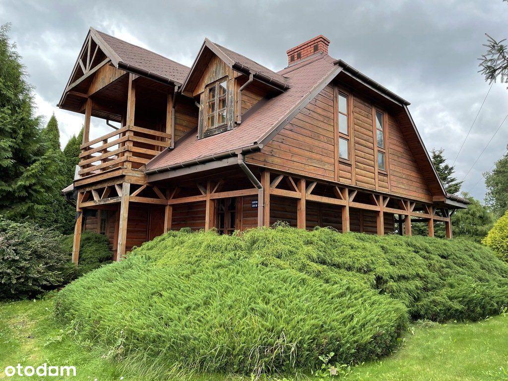 Piękny drewniany dom z działką-70km od Warszawy