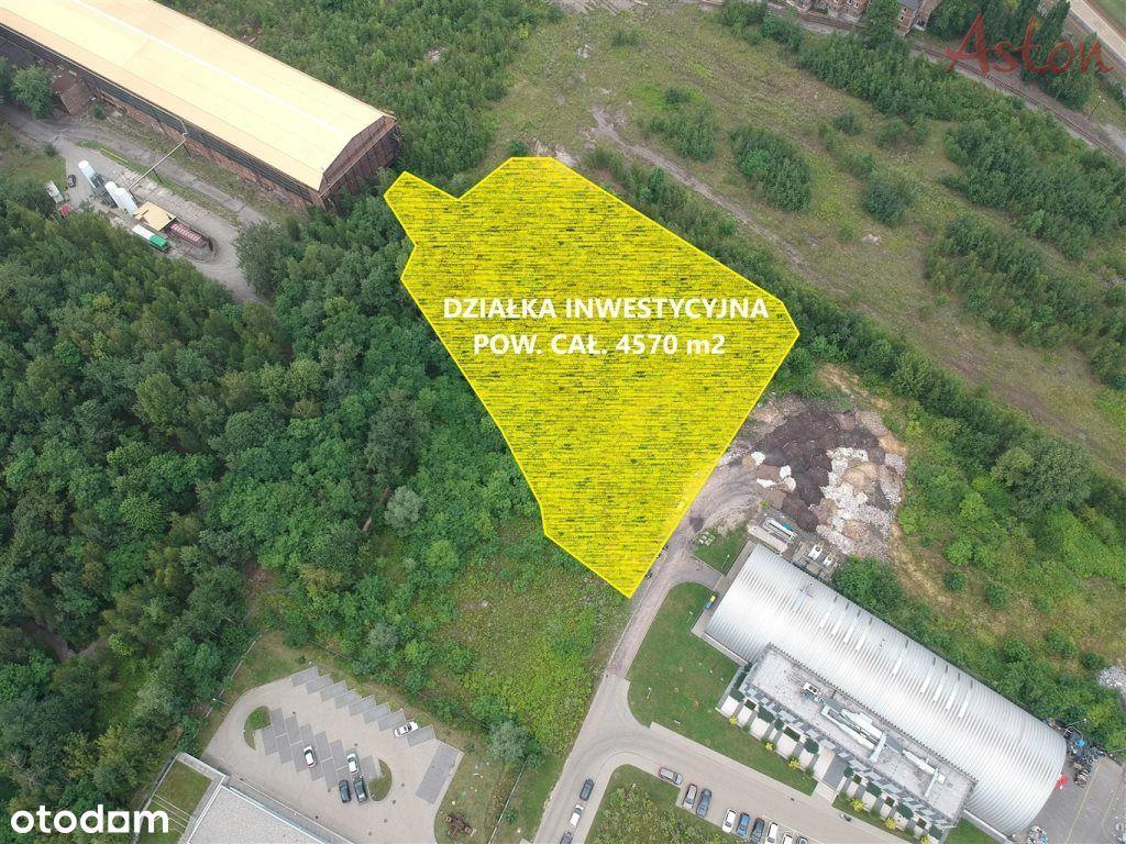 Działka inwestycyjna 4570 m2 Świetochłowice