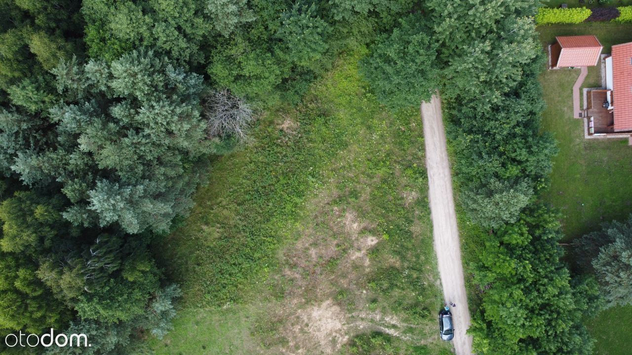 Urokliwa działka ze ścianą lasu, 450m od jeziora