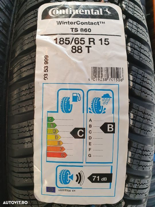 Continental, WinterContact TS 860, 185/65 R15, 88T Noi  M+S – Iarna  Anvelope / Cauciucuri - 4