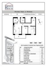 D3 - 3 pok., 2 garderoby, balkon 7,5 m - 2p./2p.