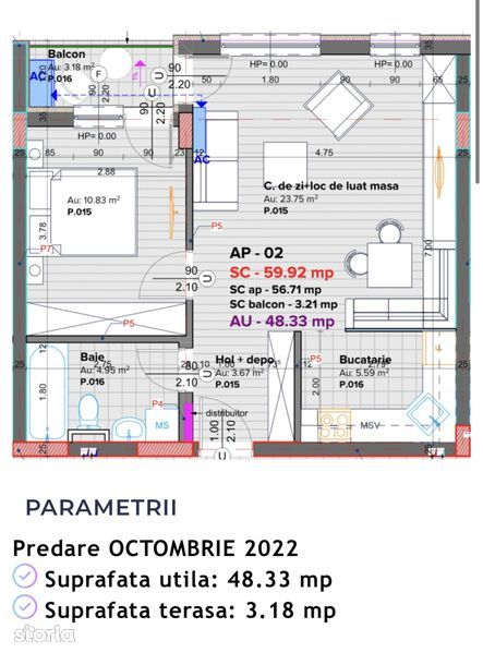 Apartament 2 camere AES Residence