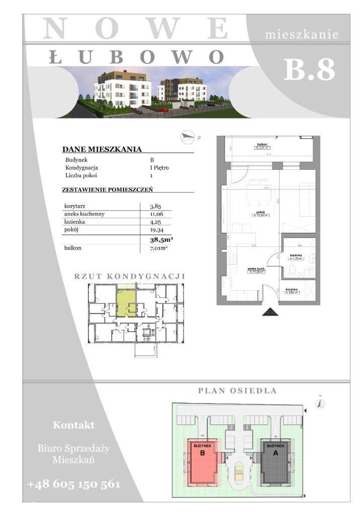 Mieszkania od 38m2 Łubowo/Gniezno Budynek C