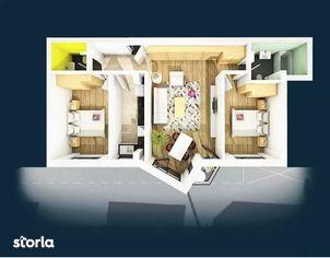 Apartament 3 camere, 70,38 mp, semifinisat, zona Centrala!