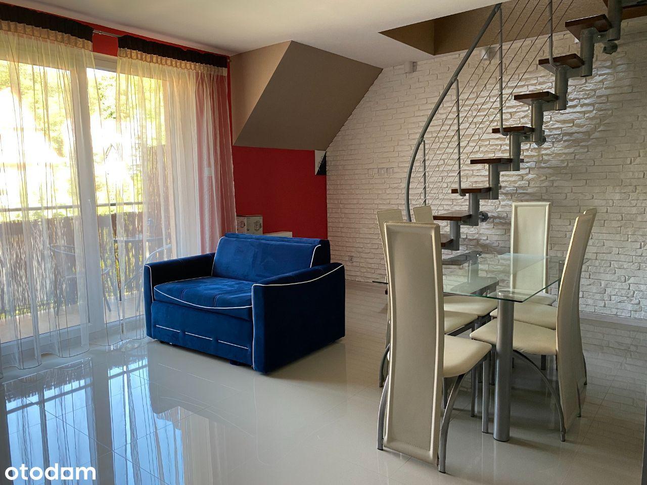 Mieszkanie dwupiętrowe 65m2, strych + garaż