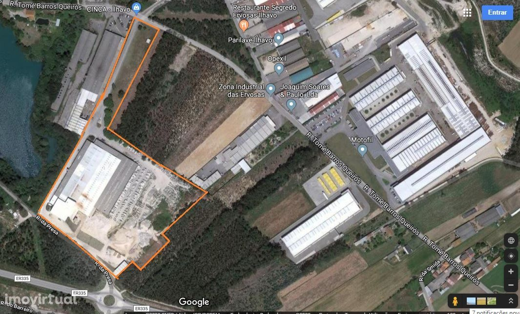 Armazéns para logística ou atividade industrial.