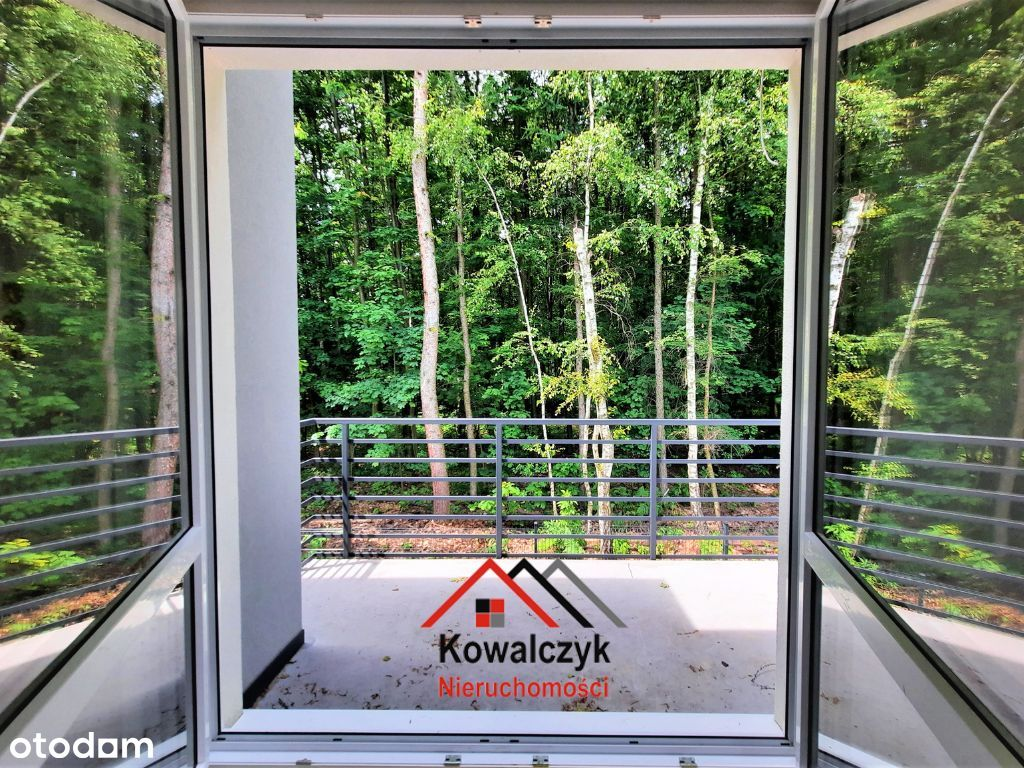 M5 z pięknym widokiem na las, balkonem i ogródkiem