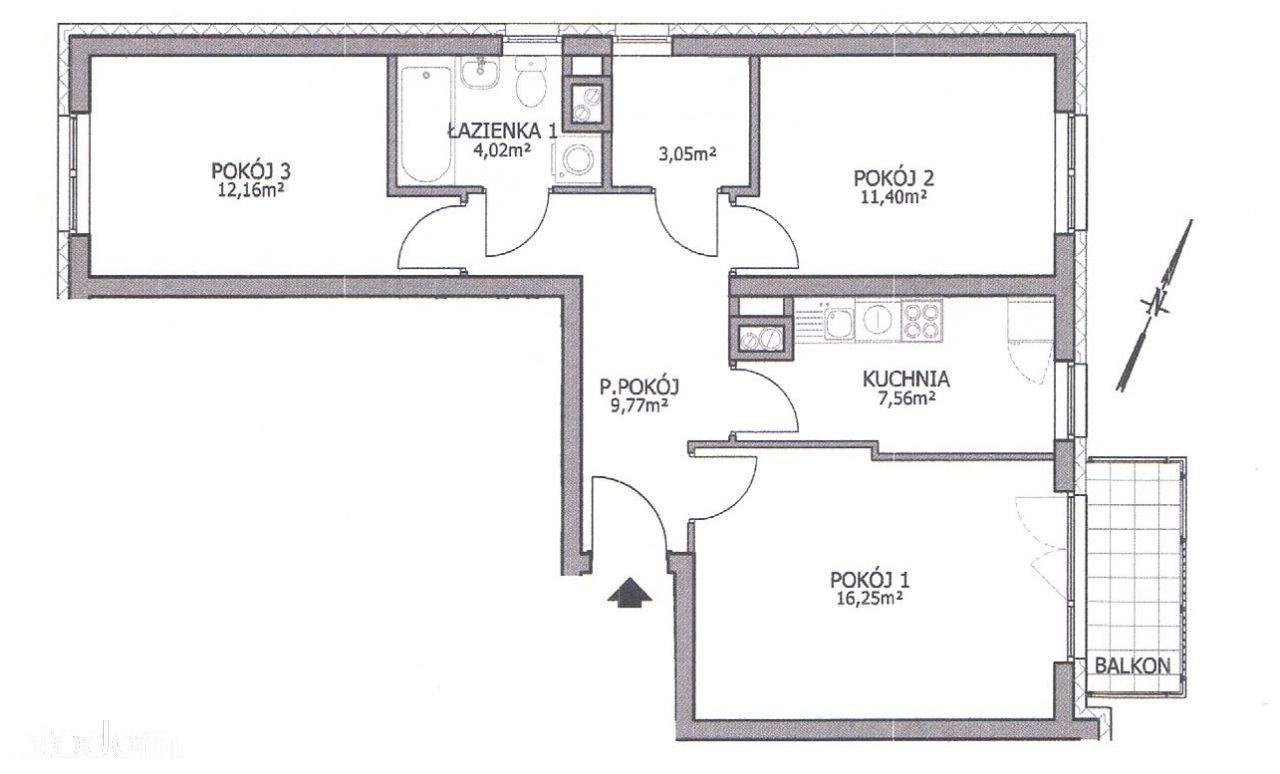 Nowe wykończone 3-pok osobna kuchnia garaż bez PCC