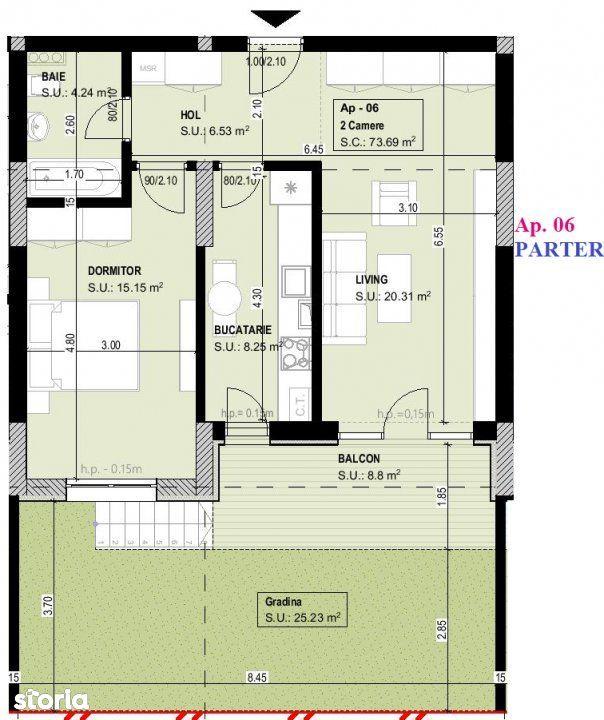 CORVARIS RESIDENCE TITAN - Parcul Teilor - Apartament 2 camere cu grad