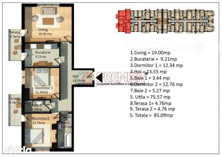 Apartament 3 Camere Metrou Dimitrie Leonida Gata de Mutare